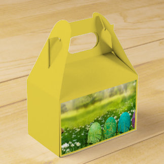 Easter Eggs in Spring Greens and Blues Favour Box