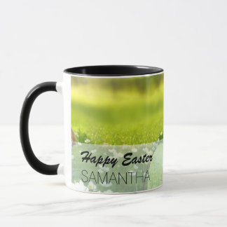 Easter Eggs in Spring Greens and Blues Mug