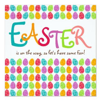 EASTER Eggs 13 Cm X 13 Cm Square Invitation Card