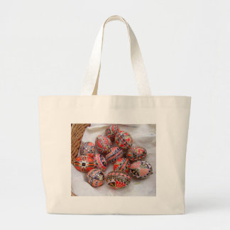 Easter Eggs Large Tote Bag