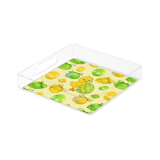 Easter Eggs Little Chicken Pattern Acrylic Tray
