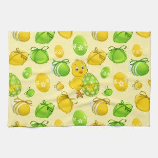Easter Eggs Little Chicken Pattern Kitchen Towels