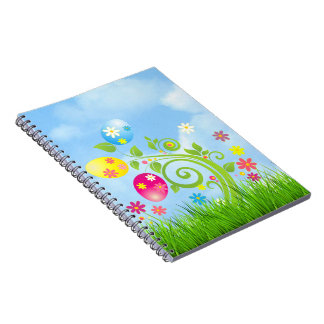 Easter Eggs on a Vine Spiral Notebook