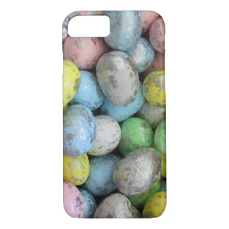 Easter Eggs pastel and silver iPhone 8/7 Case