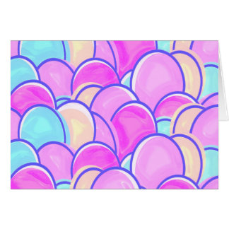 easter eggs pastel card