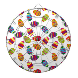 Easter eggs pattern dartboard with darts