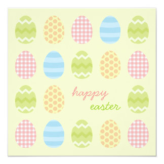 Easter Eggs Picnic party invitation