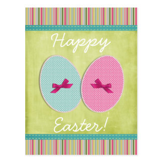 Easter eggs scrapbooking colorful postcard