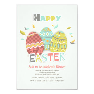 Easter Eggs Three Invitation