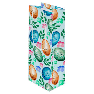 Easter Eggs Wine Gift Bag