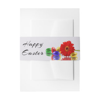 Easter Eggs with Gerbera Invitation Belly Band