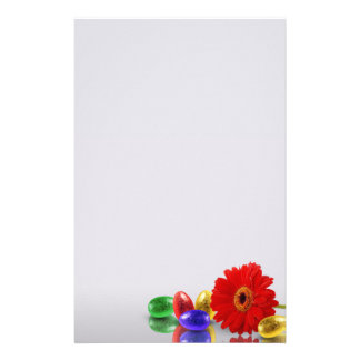 Easter Eggs with Gerbera - Stationery Letterhead