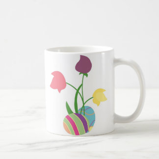 Easter Eggs with Spring Flowers Coffee Mug