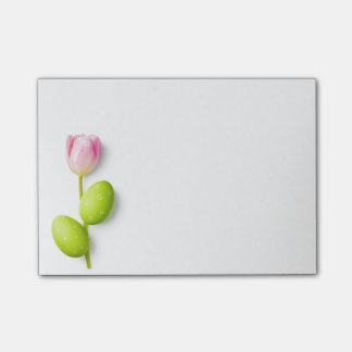 Easter Eggs With Tulip Flower Post-it Notes