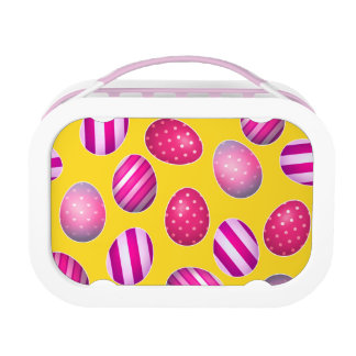 Easter Eggs Yellow and Pink Pattern Lunchboxes