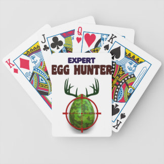 Easter expert Hunter, egg deer target shooter, fun Bicycle Playing Cards