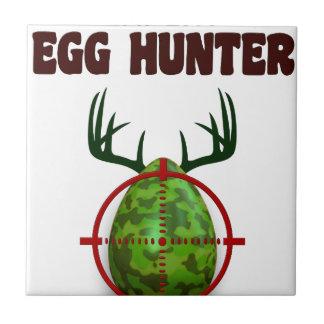Easter expert Hunter, egg deer target shooter, fun Ceramic Tile