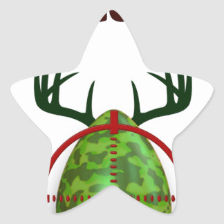 Easter expert Hunter, egg deer target shooter, fun Star Sticker