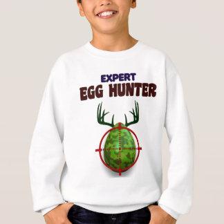 Easter expert Hunter, egg deer target shooter, fun Sweatshirt