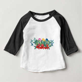 Easter, Flower, Eggs, Watercolor Baby T-Shirt