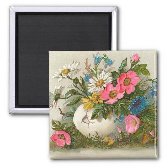 Easter Flowers Fine Vintage Floral Art Magnet