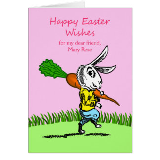 Easter for Friend, Custom Front, Add Your Text Card