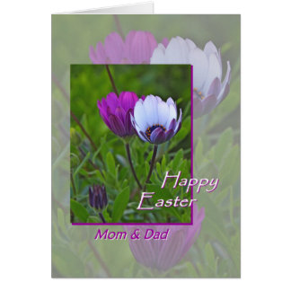 Easter for Mom and Dad Purple Flowers Card