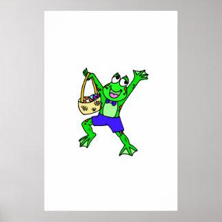 Easter Frog Print
