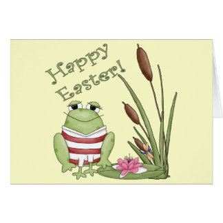 Easter Frog T shirts and Easter Gifts Card