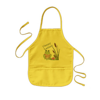 Easter Frog T shirts and Easter Gifts Kids Apron
