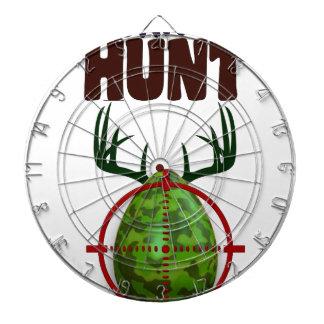 easter funny design, Born to hunt deer egg shooter Dartboard