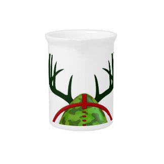 easter funny design, Born to hunt deer egg shooter Pitcher