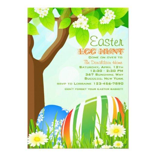 Easter Garden Egg Hunt Invitation