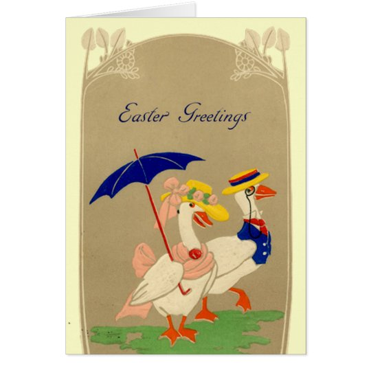 Easter Geese Card