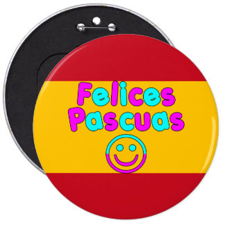 Easter Gifts for Spanish Speakers Felices Pascuas Pinback Buttons