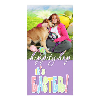 Easter - Golden Retriever - Sandy Personalized Photo Card
