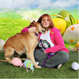 Easter - Golden Retriever - Sandy Photo Cut Out