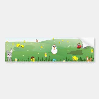 easter grass bumper sticker