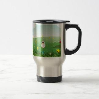 easter grass stainless steel travel mug