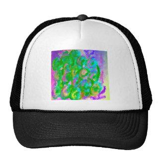Easter Green Floral Design Hats