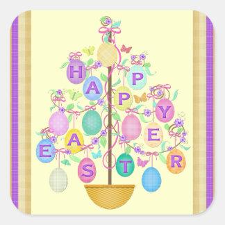 Easter Greeting Egg Tree Sticker