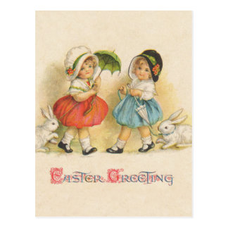 Easter Greeting Vintage Postcard