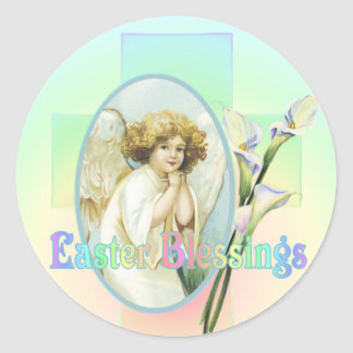 EASTER GREETINGS by SHARON SHARPE Round Sticker