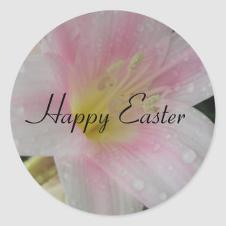 Easter Greetings Classic Round Sticker