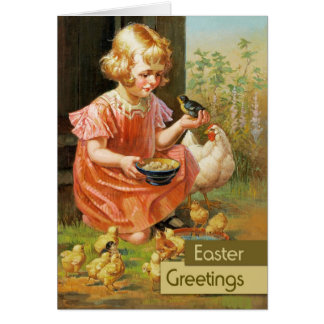 Easter Greetings.Customizable Fine Art Easter Card