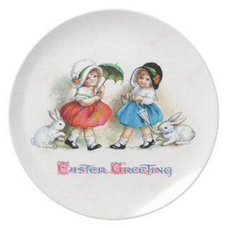 Easter Greetings Party Plate