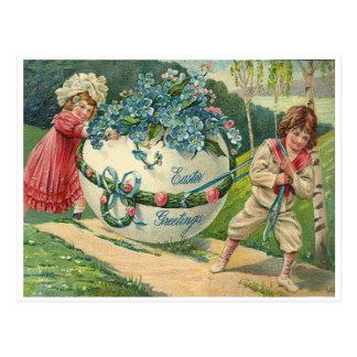 Easter Greetings Postcard