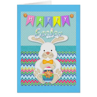"""Easter - """"Happy Easter"""" Sweet Bunny Greeting Card"""