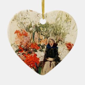 Easter in Paris in 1900s Ceramic Heart Decoration