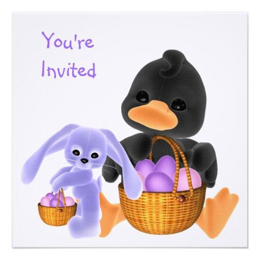 Easter Invitation Egg Hunt